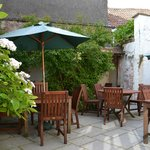 Our sunny courtyard