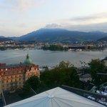 Mio-$-View over Vierwaldstätter Lake towards Pilatus Mountain