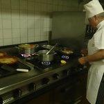 Visita à cozinha do chefe Carvalho.
