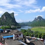 View of Li River from rooftop