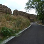 the new alley and a part of the ancient wall