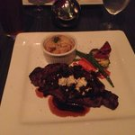 New York Strip with Bacon Relish and Bleu Cheese
