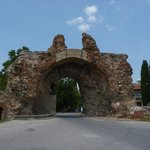 the main gate and symbol of the town