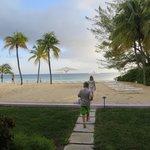 Sidewalk from patio to beach