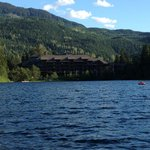 Nita Lake Lodge while canoeing on the lake