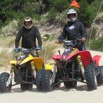 Atv riding the dunes