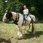 Our eldest riding Charlie