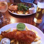 Fish & chips and rack of ribs