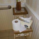 Poorly stocked bathroom