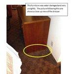 Water damaged furniture