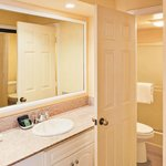 Bathroom of a One Bedroom Unit at the Southern California Beach Club