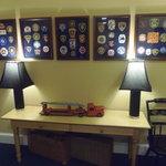 Hallway outside room - Fire Station memorabilia