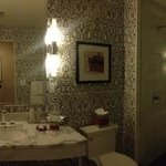 great bathrooms, though water does get on the floor from shower