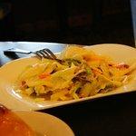 Delicious salad w/egg white inside