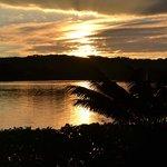 Sunrise over the lagoon