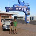 Having fun at the Blue Swallow Motel