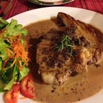 pork chop with mulberry red wine sauce