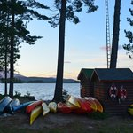 Canoes, kayaks and equipment shed