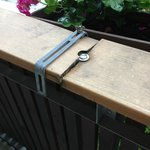 cheap plastic 'wood' railing.