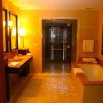 Bathroom - Shower is through the glass doors