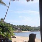 view along beach