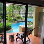 Just step out the door into this beautiful pool