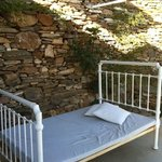 a bed on our terrasse