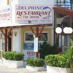 front of the Delfini restaurant