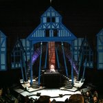 Elizabethan Stage at night