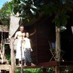 devant le bungalow