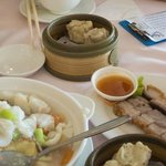 Lovely crispy skin pork & steamed dumplings