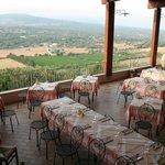 veranda sala ristorante con vista panoramica sul Golfo di Orosei