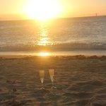 Sunset drinks on the beach