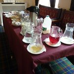 Buffet Breakfast Bar - note the milk bottle