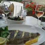 Grilled plaice for lunch at Egham Loch Fyne