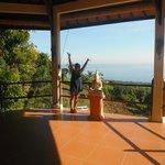Yoga platform...awesome view