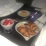 Breakfast in bed - this was the second course after a local welsh fry up and salmon and eggs as