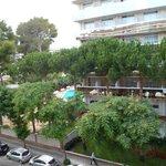 Desde la terraza de la habitación aparthotel
