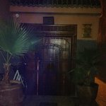 The front door to the riad