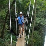 Rope bridge crossing