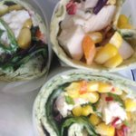chicken and yogurt spinach wraps