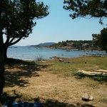 Vista da zona prato tra le spiagge