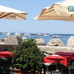 View from outdoor table at Ristorante Al Pontile