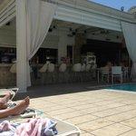 Part of bar area at pool no 1