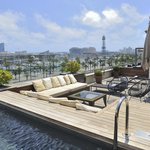 Roof top terrace & Pool. Beautiful views over the port