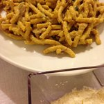 local pasta with mushrooms