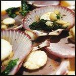 Scallops with garlic and thai basil