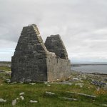 St Benan's, Inis Mor. Tigh Fitz is visible, bottom right.