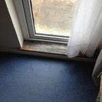 damp and mouldy step into garden and bedroom