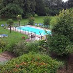the gardens and swimming pool